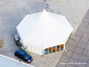 hexagonal-multi-side-tent-with-glass-wall