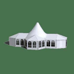 High peak mixed wedding tent