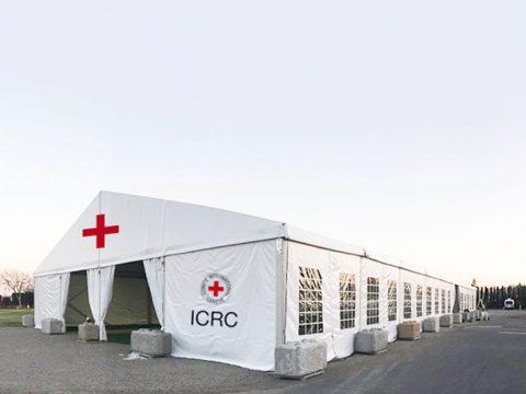 Medium medical supplies storage tent