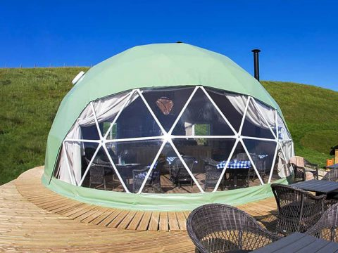 Glamping Dome Tent with Canvas Cover