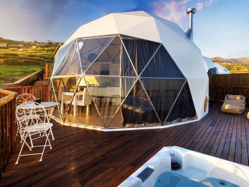 Glamping Dome Tent with Glass Window