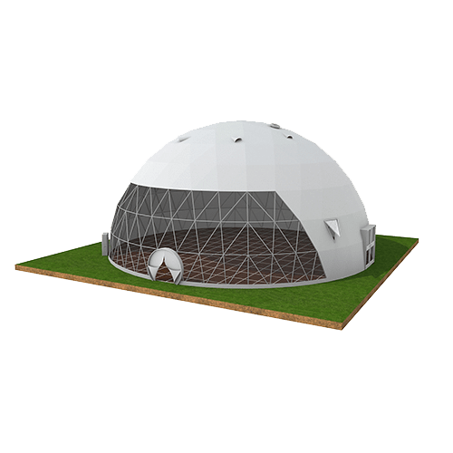 Transparent Front Dome Tent