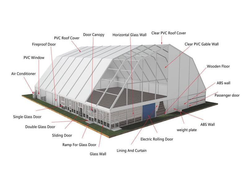 Warehouse Tent Optional Accessories