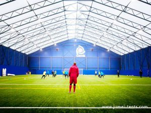 Clearspan Tent for Indoor Football Field