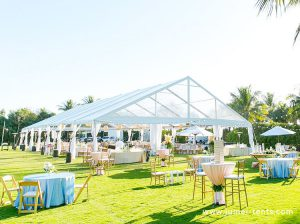 Luxury a-shape clear roof wedding tent