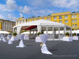 Luxury multi-sided wedding tent
