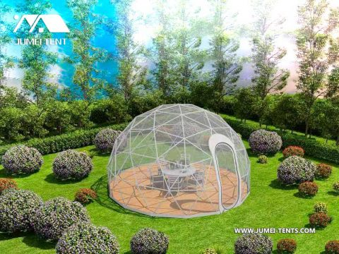 Restaurant dome tent rendering