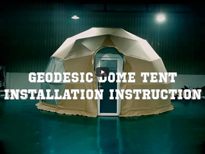 How to build a 6M geodesic dome tent step by step