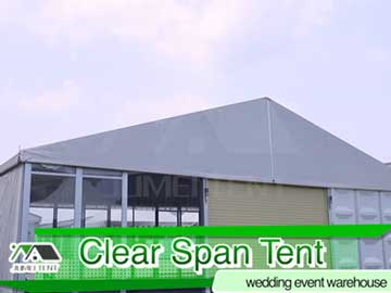 Clear-span tent for event, wedding and warehouse