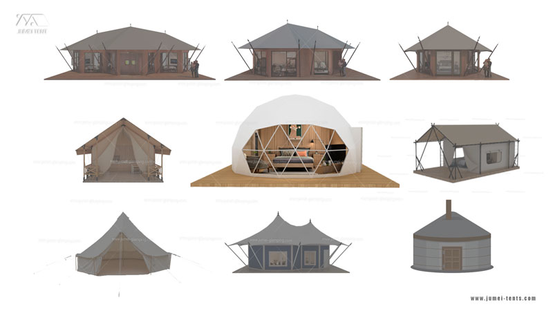 Most popular typs of glamping tents