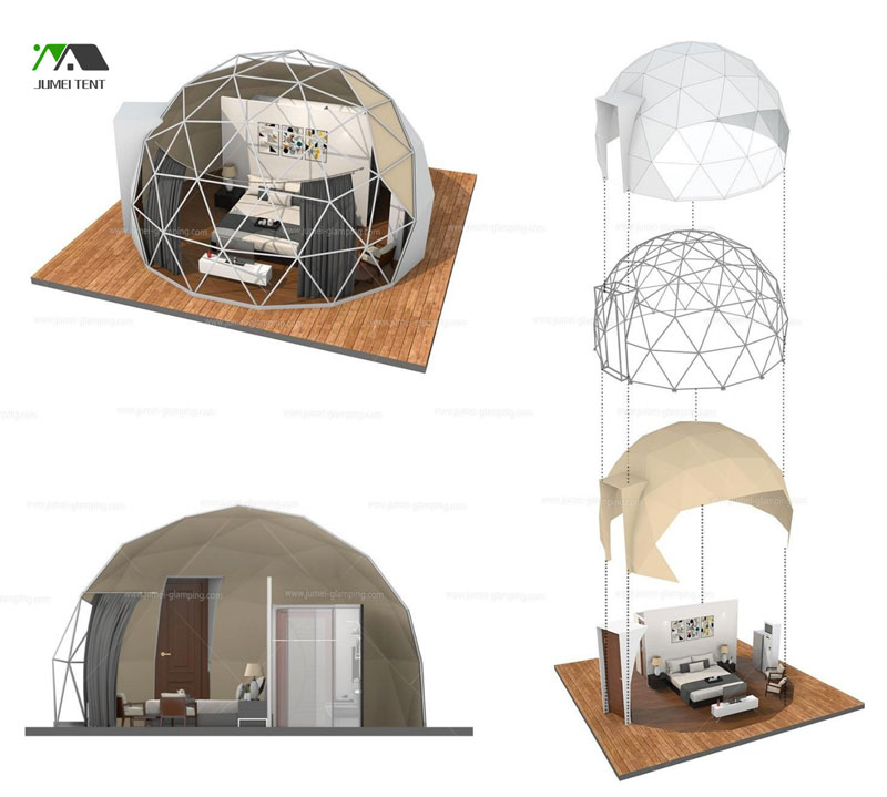 Sturdy Geodesic Dome Structure