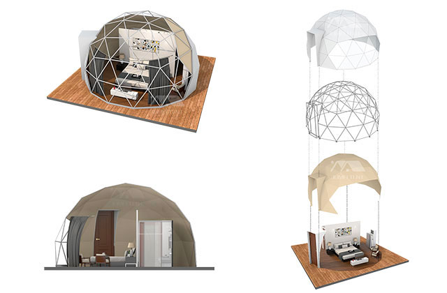 Glamping Dome Tent Rendring